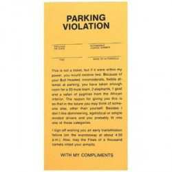 Fake Parking Tickets