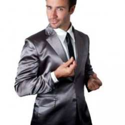 Grey Silk Suitjamas