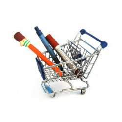 Mini Shopping Cart Desk Organizer