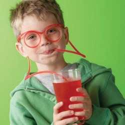 DIY Drinking Straw Glasses
